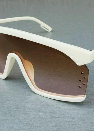 Calvin klein очки маска женские солнцезащитные бежево коричневые