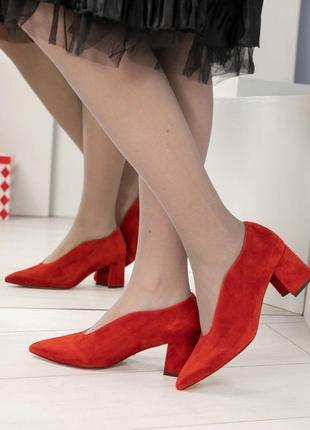 Оригинальные замшевые туфли