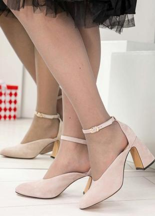 Эксклюзивные замшевые туфли босоножки