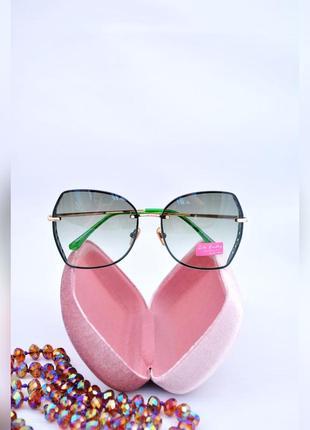Красивые солнцезащитные градиентные очки rita bradley окуляри