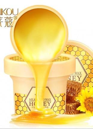 Laikou парафиновая маска - плёнка для рук молоко и мед
