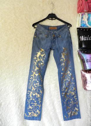 ✅ джинсы коттон с золотым напылением