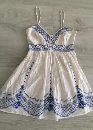 Платье вышивка хлопок батист new look