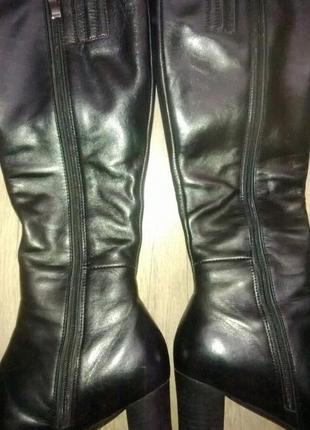 Сапоги кожаные зимние 36-37 размер