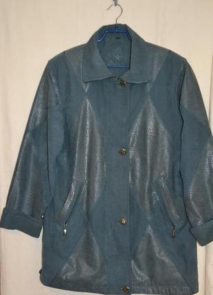 Куртка с вставками лазерным напылением