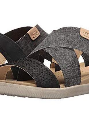 Кожаные босоножки сандалии ecco damara