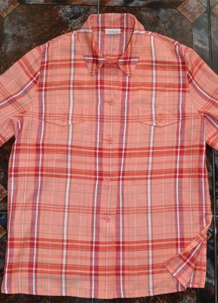 Новая летняя клетчатая рубашка basler р.xxl