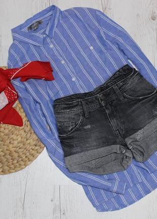 Шорты джинсовые с фабричными потертостями