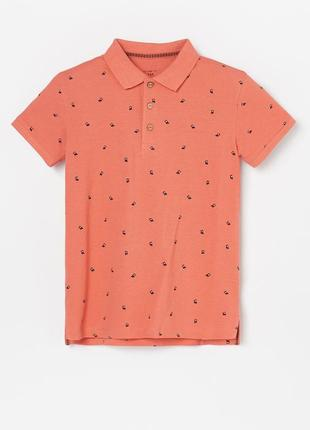 Стильная брендовая футболка поло для мальчика, натуральный материал