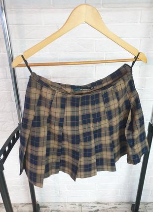 Befree клетчатая мини-юбка в складку