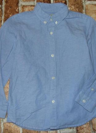 Котон рубашка мальчику 4 - 5 лет zara