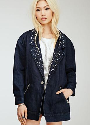 Джинсовое оверсайз пальто