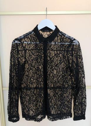 Кружевная блуза zara basic