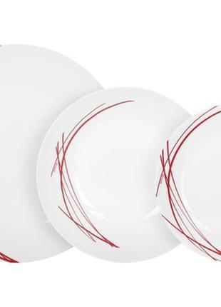 Столовый сервиз из 18 предметов arcopal domotille rouge
