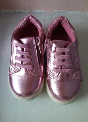 Кожание стильние кеди туфли для девочки