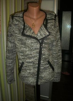 Крутая теплая мякусенькая 😍 косуха пиджак 46-48р