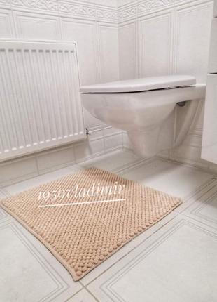 Коврик для ванной комнаты 🍑 персиковый