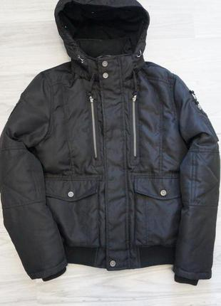 Куртка бомбер jack&jones tech чёрная размер m