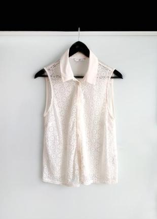 Рубашка блузка new look с вышивкой