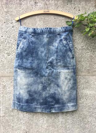 Юбка джинсовая с карманами