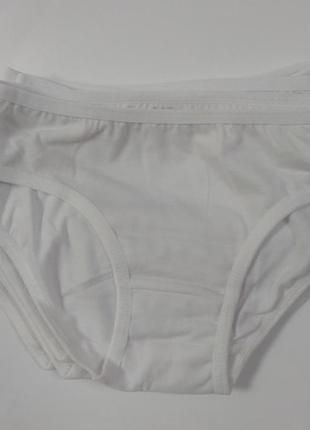 Трусики для девочки белые набор комплект 3 шт.