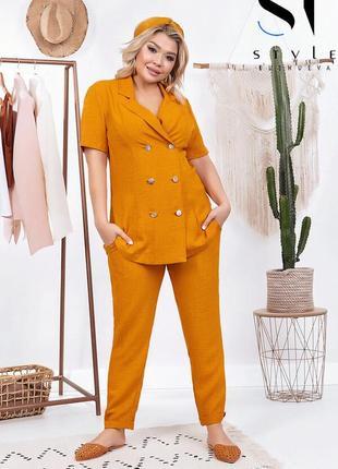 Женский летний брючный костюм размеры: 48-564 фото