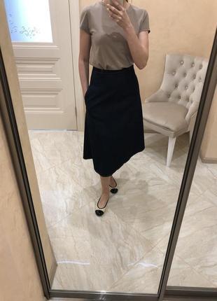 Юбка джинсовая, коттоновая, с высокой талией