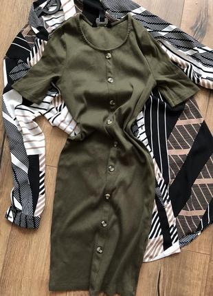 Платье с пуговицами1 фото