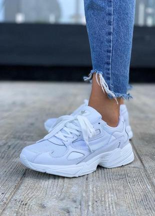 Шикарные женские кроссовки adidas falcone в белом цвете (36-40)😍