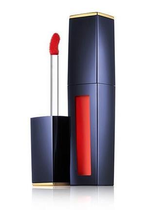 Красная помада estée lauder pure color envy liquid lip potion rouge fluide