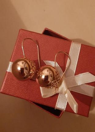 Серьги xuping, ювелирная бижутерия- выглядит как золото