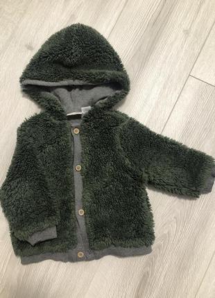 Толстовка, куртка, меховушка zara 6-9 мес