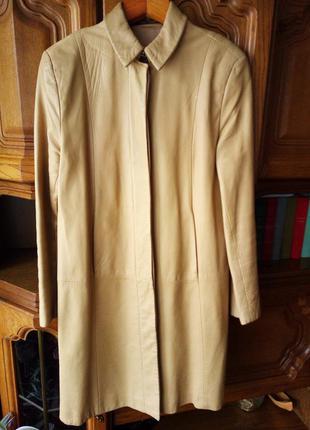 Пальто плащ кожа marks & spencer