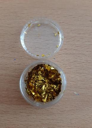 Слюда для дизайна золото