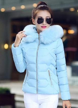 Модная куртка нежного оттенка