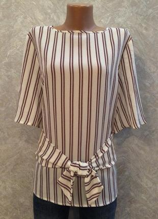 Блуза в полоску с завязкой atmosphere