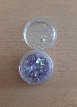 Слюда для дизайна ногтей,  фиолет