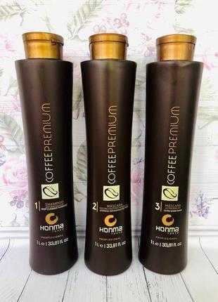 Кератин хонма токио кофе премиум honma tokyo coffee premium 3 по 1000мл