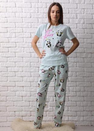 Pijamoni  футболка и штаны 100%хлопок турция  с(42-44) м(44-46) л(46-48) хл(48-50)