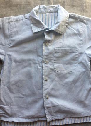 Льняная рубашка на мальчика st.bernard