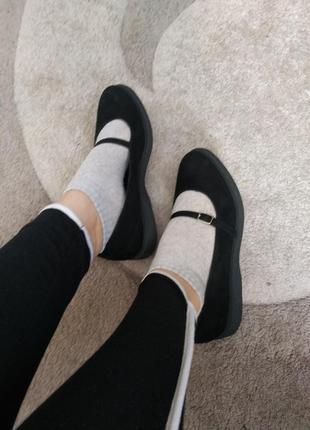 Балетки, туфли с натуральной замши.