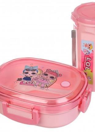 Оригинальный и практичный набор для ланча! для девочек.