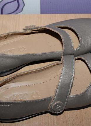 Стильные кожаные туфли с золотым напылением hotter