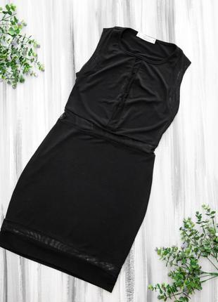 Tamara черное платье со вставками сетки