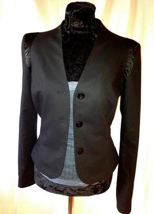 Пиджак приталенный однобортный + брюки костюм офисный  monica ricci