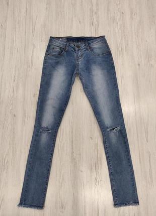 Распродажа до 15 мая🔥 джинсы с прорезами на коленках лыкйор и покер