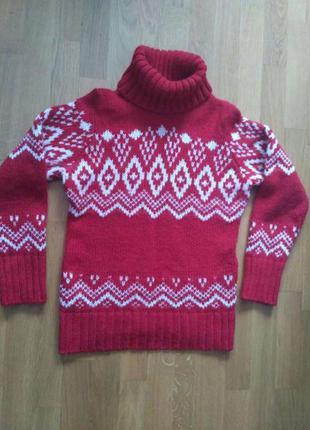 Шерстяной свитер esprit с воротом