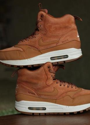 "Кроссовки nike wmns air max 1 mid sneakerboot ""tawny gum"""