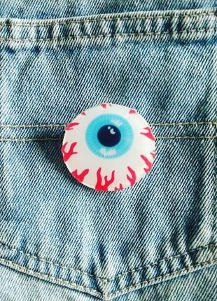 Значок глаз, брошь, брошка