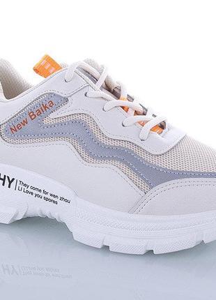 Летние женские кроссовки, сеточка + эко-кожа, 36-41р